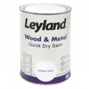 LEYLAND WOOD & METAL QUICK DRY 1.25L SATIN BRILLIANT WHITE