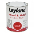 LEYLAND WOOD + METAL 0.75L NON DRIP GLOSS CRIMSON RED
