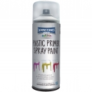 PLASTIC PRIMER SPRAY PAINT CLEAR WHITE