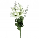 POINSETTIA & ASTILBE BUSH IVORY AND SILVER 30CM