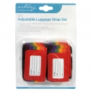ASHLEY 2PC ADJUST LUGGAGE STRAPS