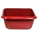 SQUARE BOWL 7L RED