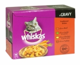 WHISKAS COMPLETE CAT FOOD TRADITIONAL IN GRAVY 12 POUCHES