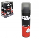 GILLETTE SHAVE FOAM 200ML REGULAR X6